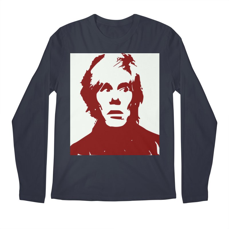 Andy Warhol Men's Longsleeve T-Shirt by Matthew Lacey-icarusismartdesigns
