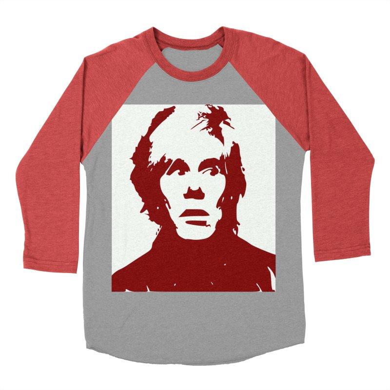 Andy Warhol Women's Baseball Triblend Longsleeve T-Shirt by Matthew Lacey-icarusismartdesigns