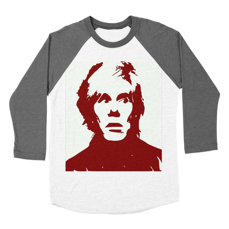 Andy Warhol Men's Baseball Triblend Longsleeve T-Shirt by Matthew Lacey-icarusismartdesigns