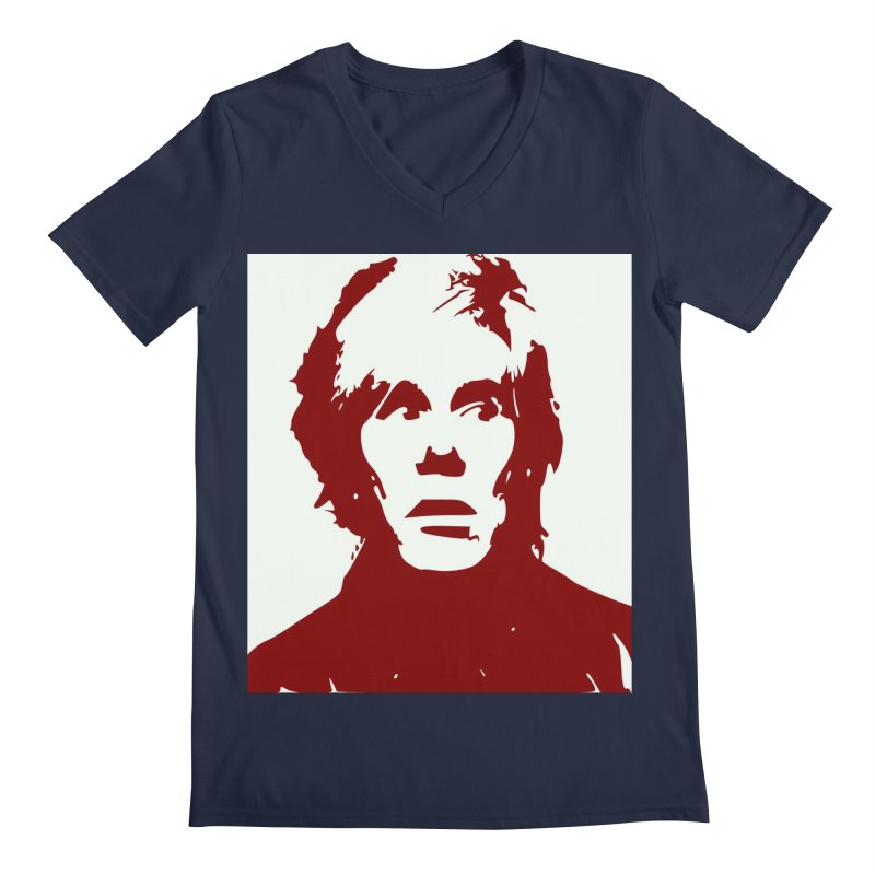 Andy Warhol Men's Regular V-Neck by Matthew Lacey-icarusismartdesigns