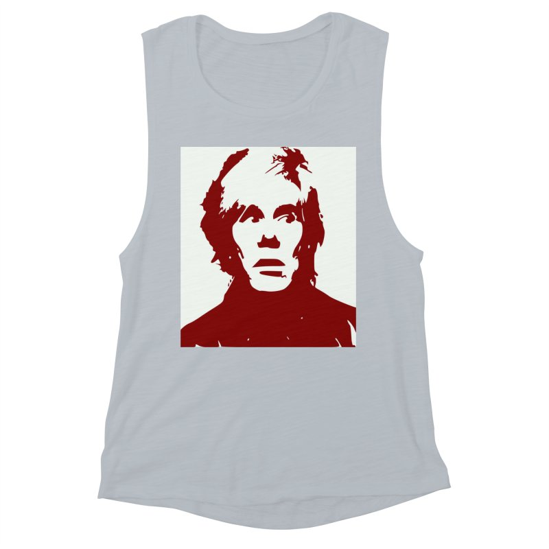 Andy Warhol Women's Muscle Tank by Matthew Lacey-icarusismartdesigns