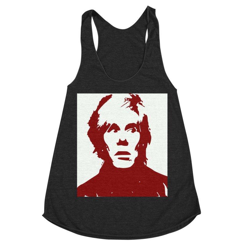 Andy Warhol Women's Racerback Triblend Tank by Matthew Lacey-icarusismartdesigns