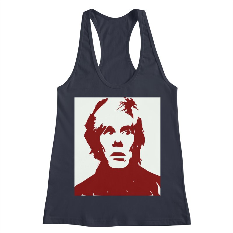 Andy Warhol Women's Racerback Tank by Matthew Lacey-icarusismartdesigns