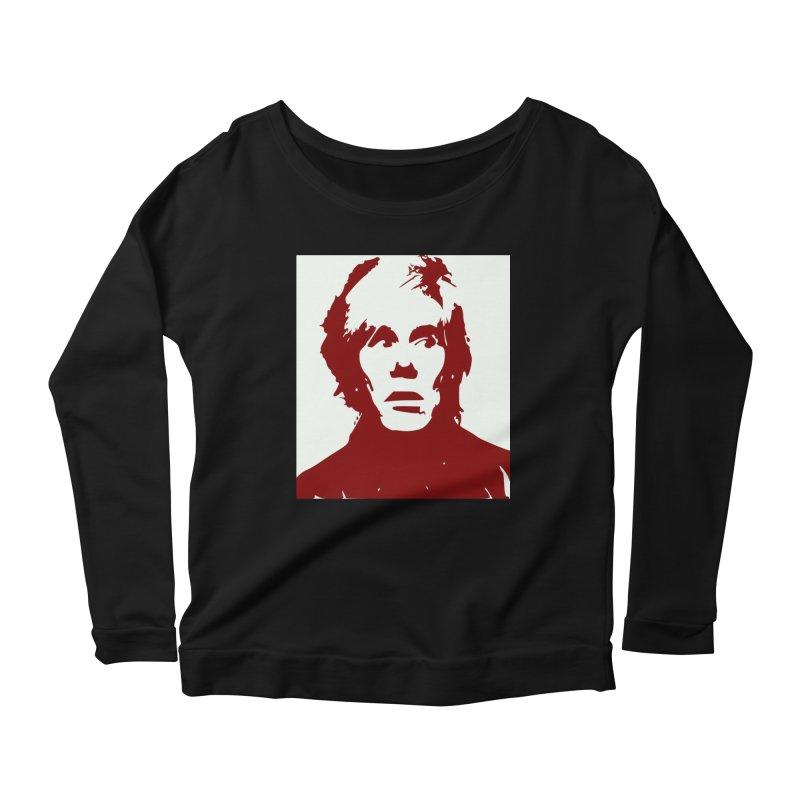 Andy Warhol Women's Scoop Neck Longsleeve T-Shirt by Matthew Lacey-icarusismartdesigns