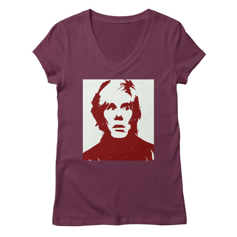 Andy Warhol Women's Regular V-Neck by Matthew Lacey-icarusismartdesigns