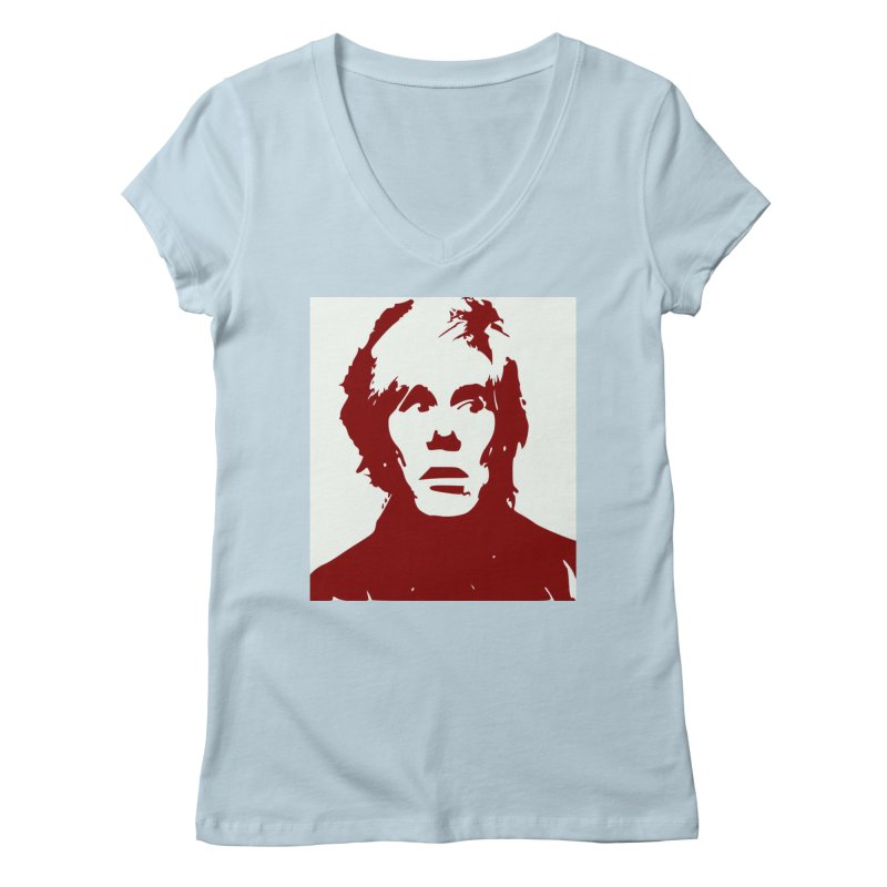 Andy Warhol Women's V-Neck by Matthew Lacey-icarusismartdesigns