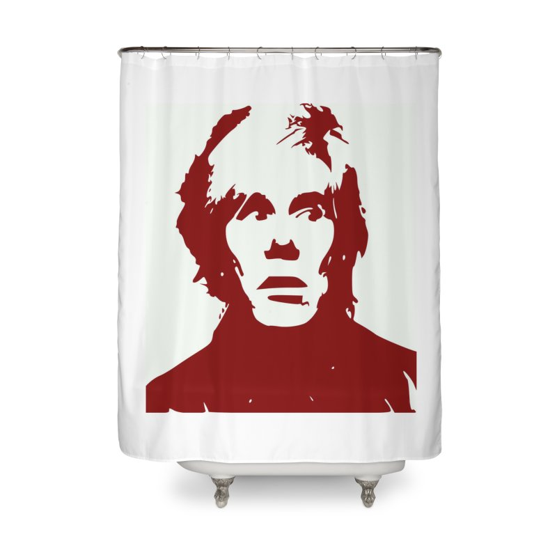 Andy Warhol Home Shower Curtain by Matthew Lacey-icarusismartdesigns