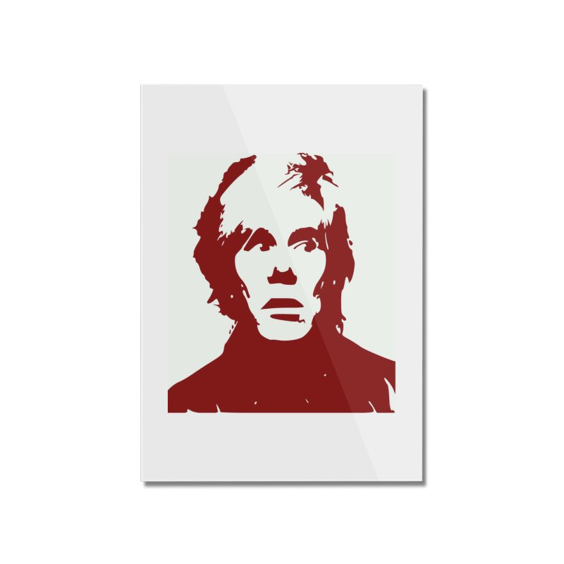 Andy Warhol Home Mounted Acrylic Print by Matthew Lacey-icarusismartdesigns