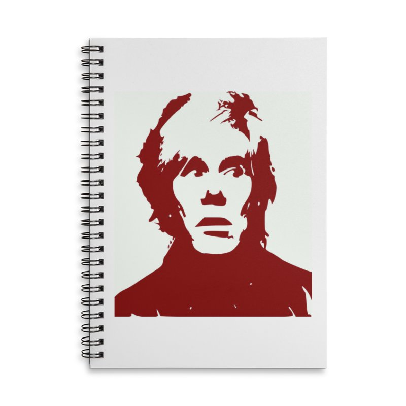 Andy Warhol Accessories Lined Spiral Notebook by Matthew Lacey-icarusismartdesigns