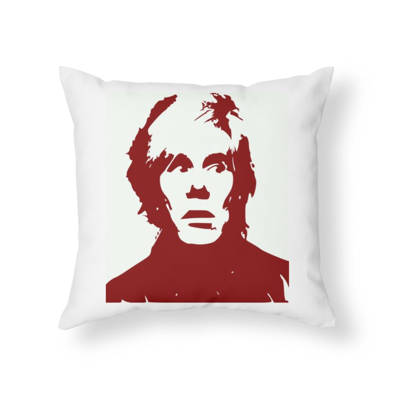 Andy Warhol Home Throw Pillow by Matthew Lacey-icarusismartdesigns