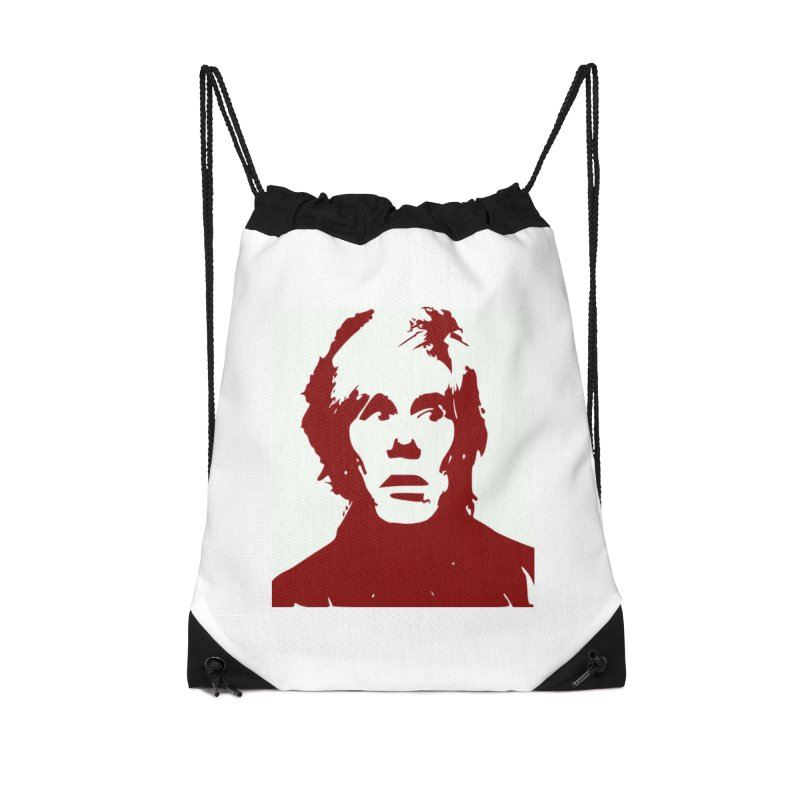 Andy Warhol Accessories Drawstring Bag Bag by Matthew Lacey-icarusismartdesigns