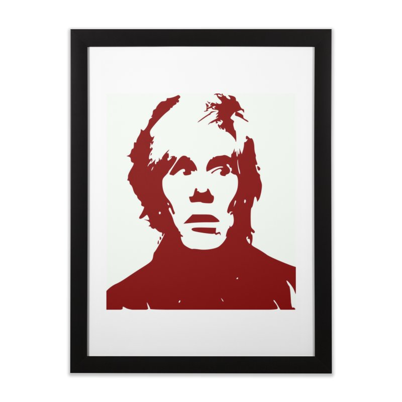 Andy Warhol Home Framed Fine Art Print by Matthew Lacey-icarusismartdesigns