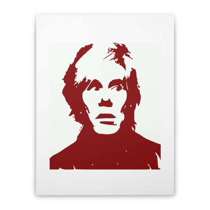 Andy Warhol Home Stretched Canvas by Matthew Lacey-icarusismartdesigns