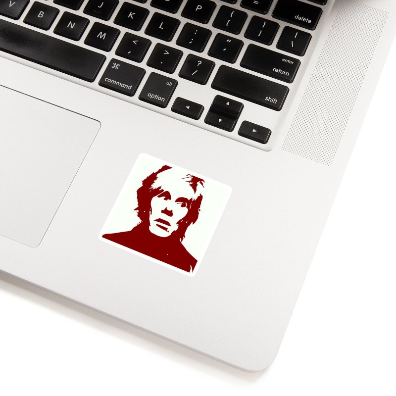 Andy Warhol Accessories Sticker by Matthew Lacey-icarusismartdesigns