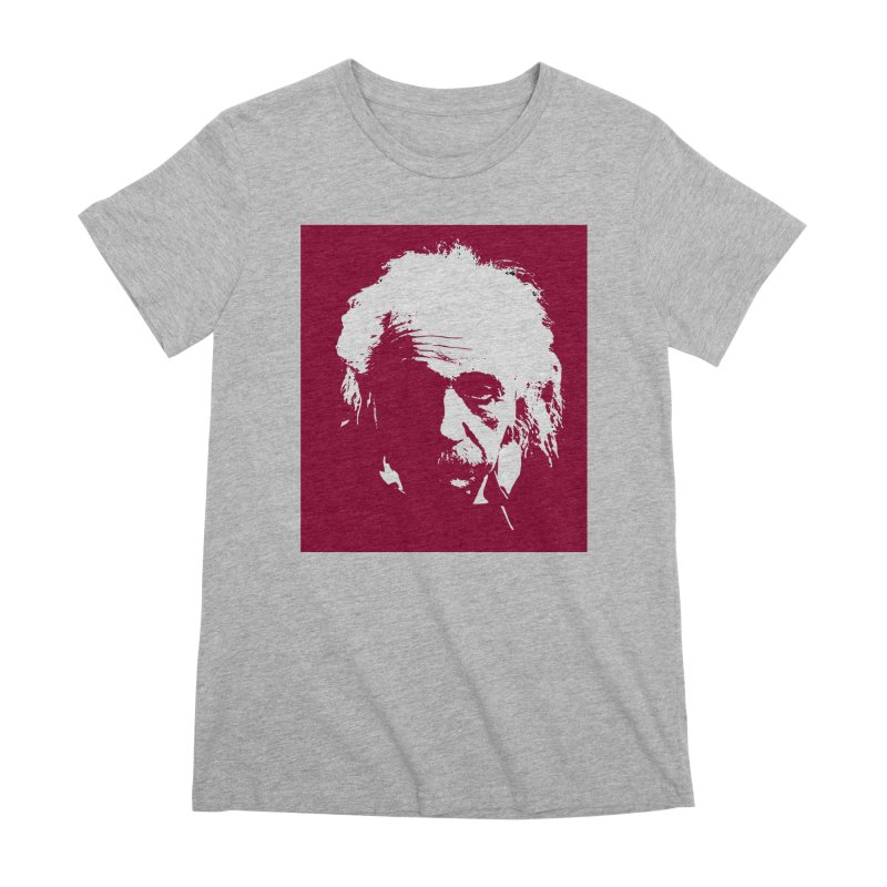 Albert Einstein Women's T-Shirt by Matthew Lacey-icarusismartdesigns