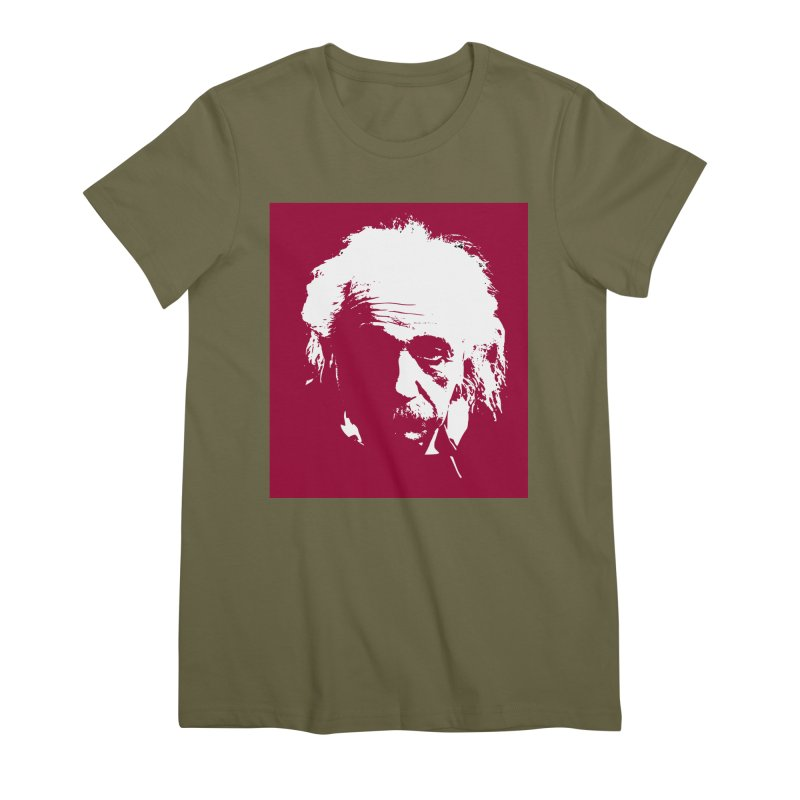 Albert Einstein Women's Premium T-Shirt by Matthew Lacey-icarusismartdesigns