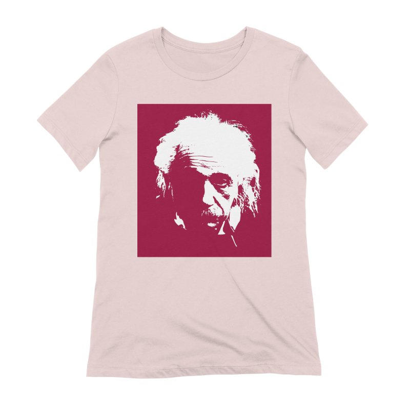 Albert Einstein Women's Extra Soft T-Shirt by Matthew Lacey-icarusismartdesigns