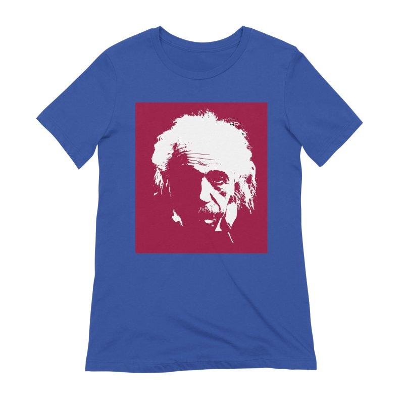 Albert Einstein Women's Extra Soft T-Shirt by Matthew Lacey-icarusismartdesigns