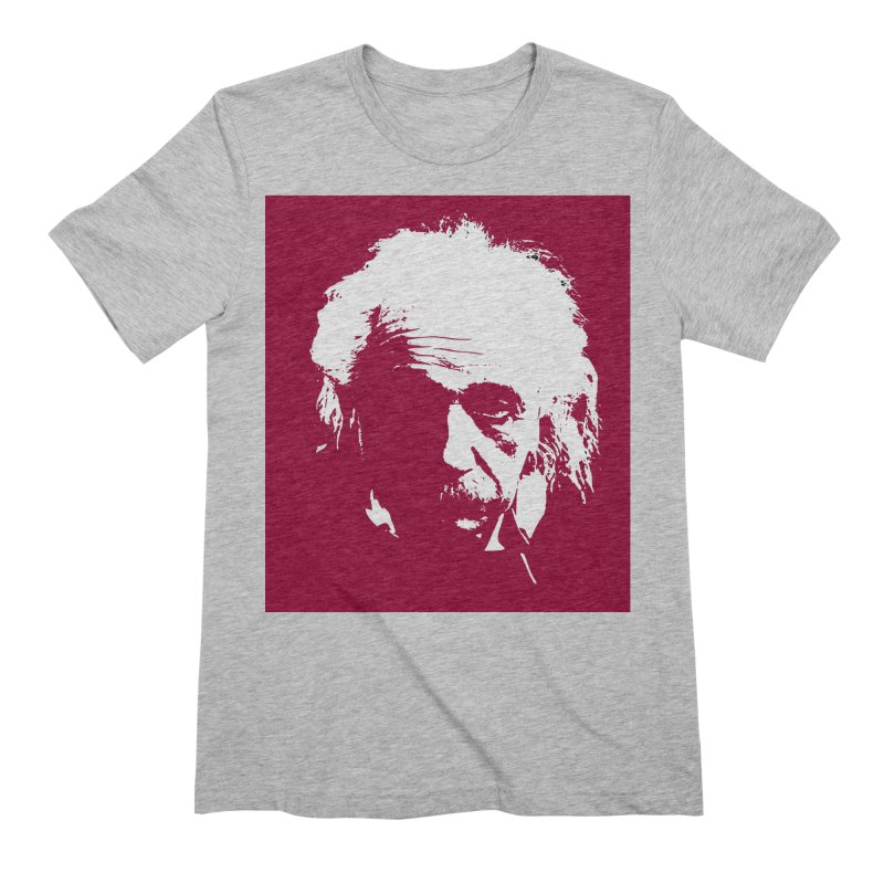 Albert Einstein Men's T-Shirt by Matthew Lacey-icarusismartdesigns