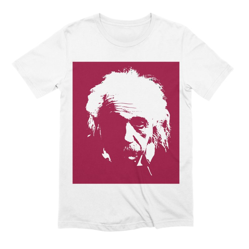 Albert Einstein Men's Extra Soft T-Shirt by Matthew Lacey-icarusismartdesigns