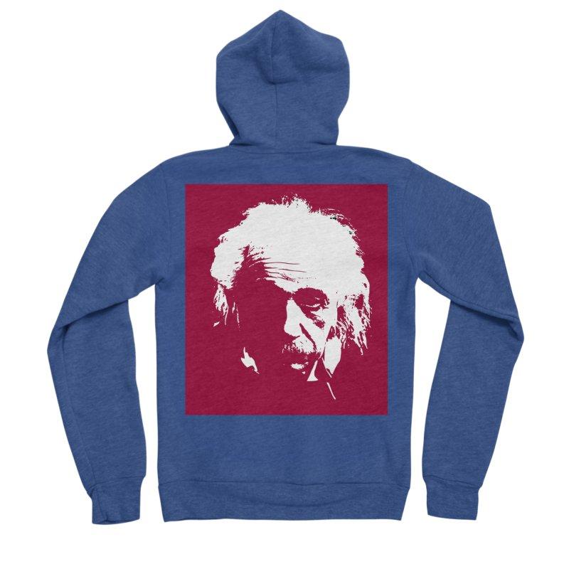 Albert Einstein Women's Zip-Up Hoody by Matthew Lacey-icarusismartdesigns