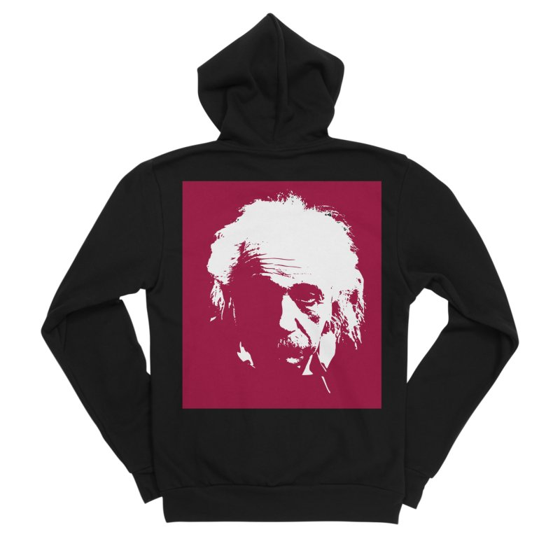 Albert Einstein Women's Zip-Up Hoody by Matthew Lacey-icarusismartdesigns