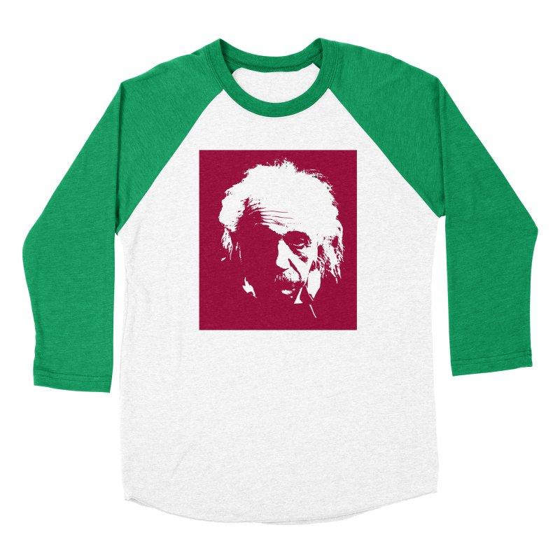 Albert Einstein Women's Baseball Triblend Longsleeve T-Shirt by Matthew Lacey-icarusismartdesigns