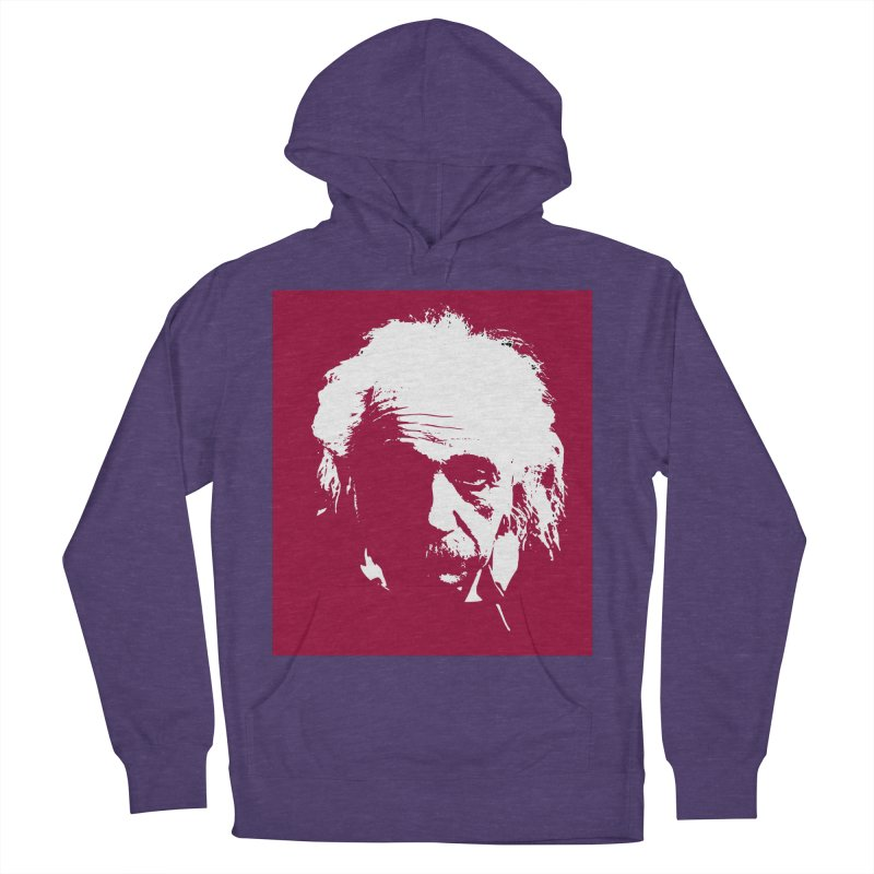 Albert Einstein Women's French Terry Pullover Hoody by Matthew Lacey-icarusismartdesigns