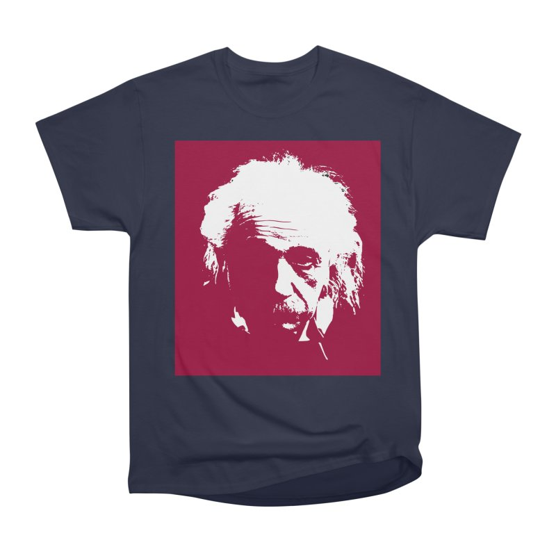 Albert Einstein Men's Heavyweight T-Shirt by Matthew Lacey-icarusismartdesigns