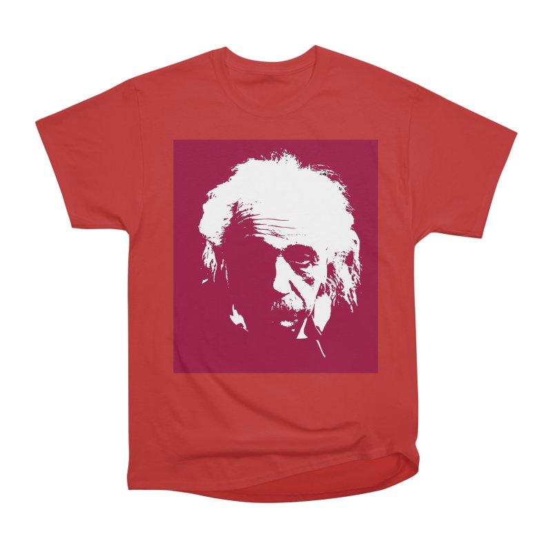 Albert Einstein Men's Heavyweight T-Shirt by Matthew Lacey-icarusismartdesigns