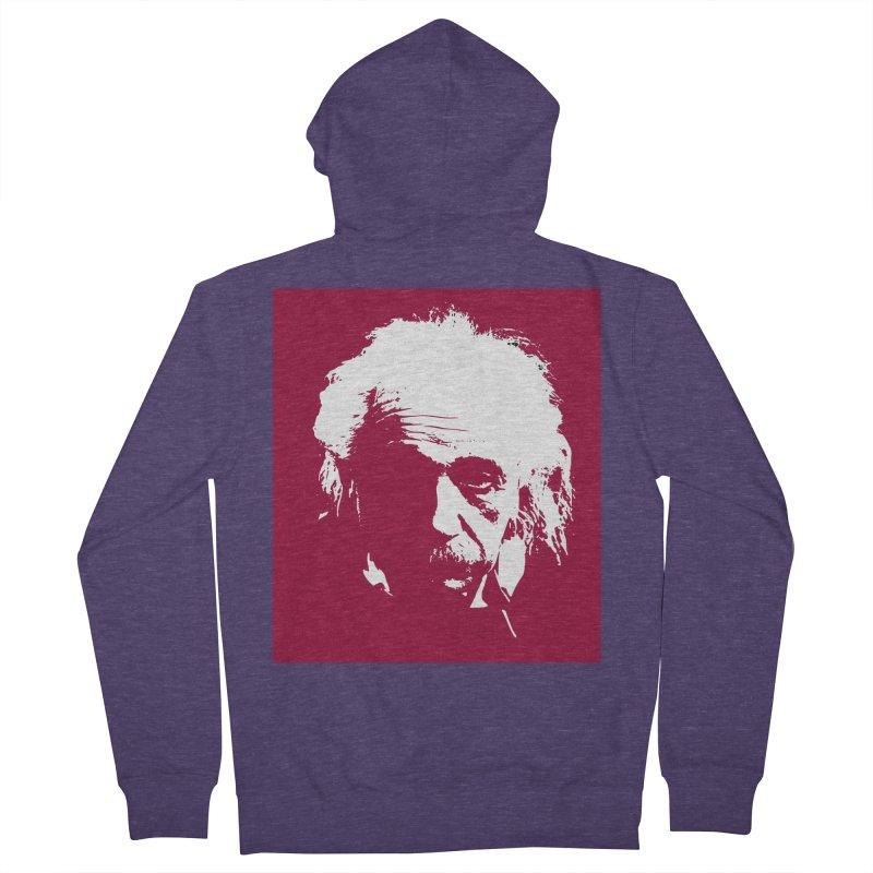 Albert Einstein Men's Zip-Up Hoody by Matthew Lacey-icarusismartdesigns