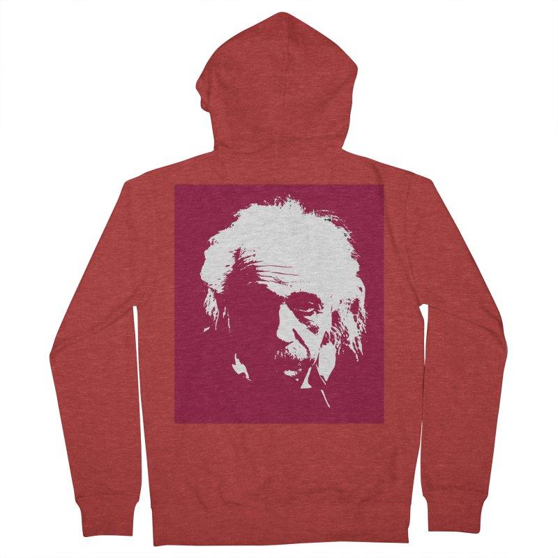 Albert Einstein Men's French Terry Zip-Up Hoody by Matthew Lacey-icarusismartdesigns