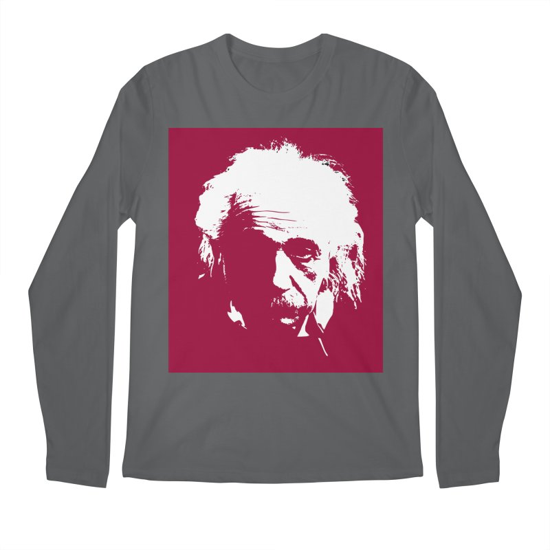 Albert Einstein Men's Longsleeve T-Shirt by Matthew Lacey-icarusismartdesigns