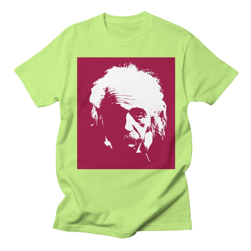 Albert Einstein Women's Regular Unisex T-Shirt by Matthew Lacey-icarusismartdesigns