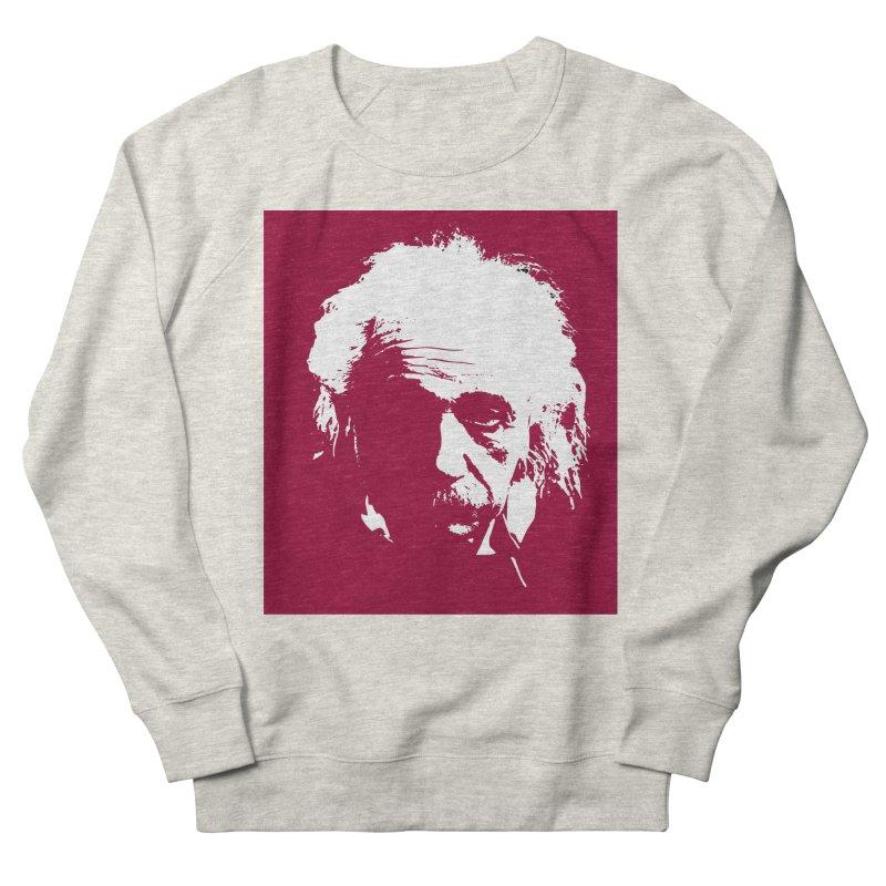 Albert Einstein Women's French Terry Sweatshirt by Matthew Lacey-icarusismartdesigns