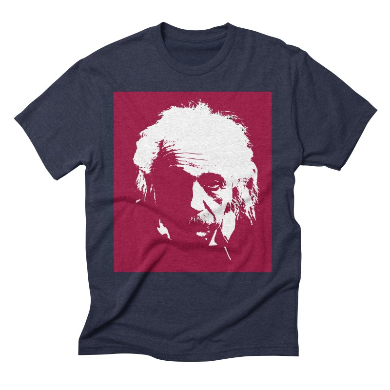 Albert Einstein Men's Triblend T-Shirt by Matthew Lacey-icarusismartdesigns
