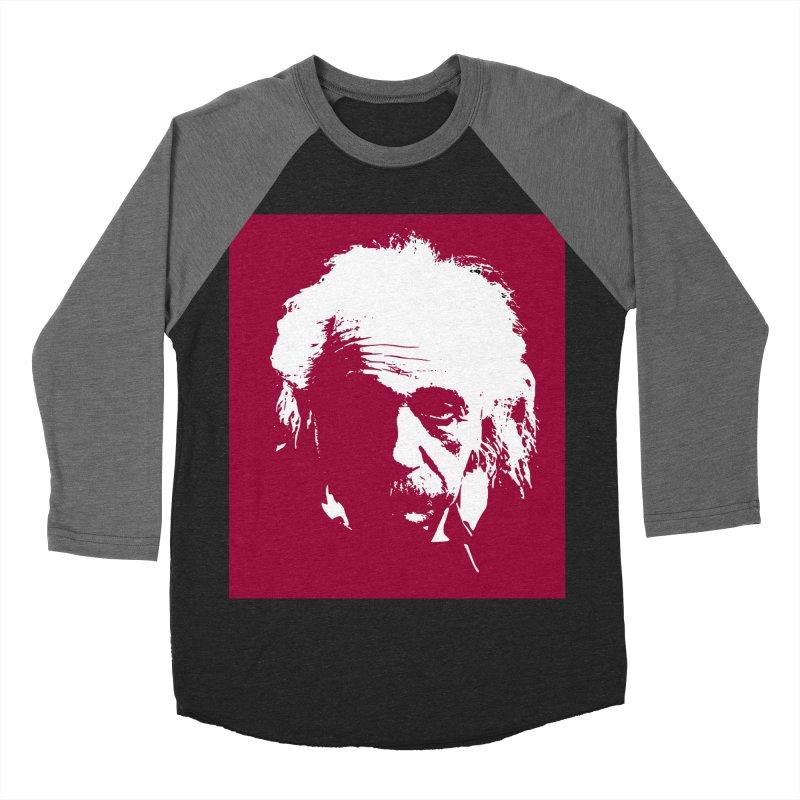 Albert Einstein Men's Baseball Triblend Longsleeve T-Shirt by Matthew Lacey-icarusismartdesigns