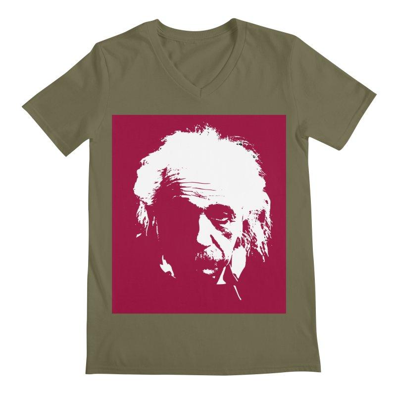 Albert Einstein Men's V-Neck by Matthew Lacey-icarusismartdesigns