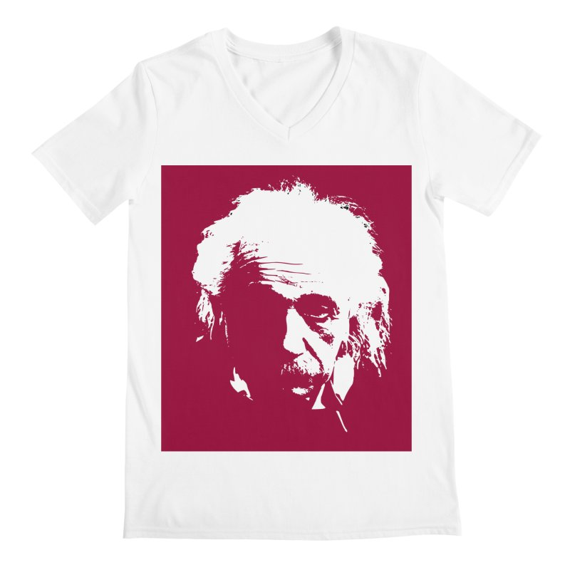 Albert Einstein Men's Regular V-Neck by Matthew Lacey-icarusismartdesigns
