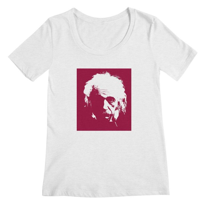 Albert Einstein Women's Regular Scoop Neck by Matthew Lacey-icarusismartdesigns