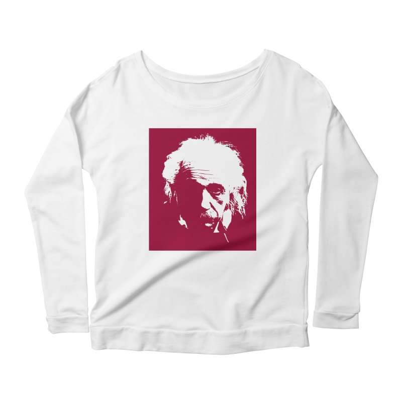 Albert Einstein Women's Scoop Neck Longsleeve T-Shirt by Matthew Lacey-icarusismartdesigns