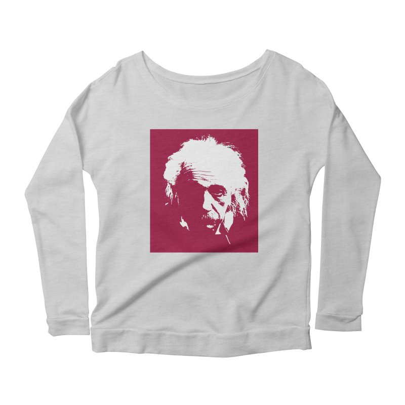 Albert Einstein Women's Longsleeve T-Shirt by Matthew Lacey-icarusismartdesigns