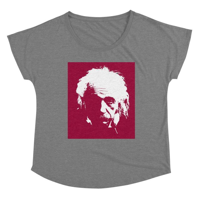 Albert Einstein Women's Scoop Neck by Matthew Lacey-icarusismartdesigns