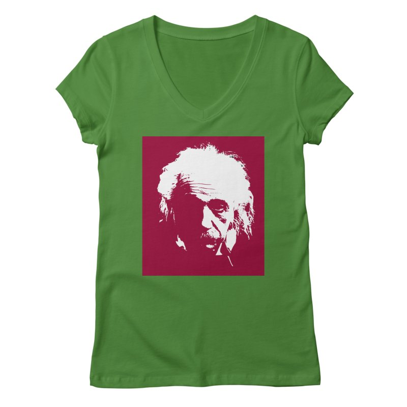 Albert Einstein Women's V-Neck by Matthew Lacey-icarusismartdesigns