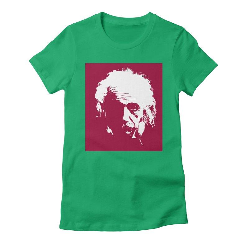 Albert Einstein Women's Fitted T-Shirt by Matthew Lacey-icarusismartdesigns