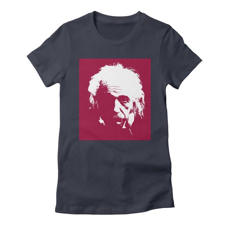 Albert Einstein Women's T-Shirt by Matthew Lacey-icarusismartdesigns