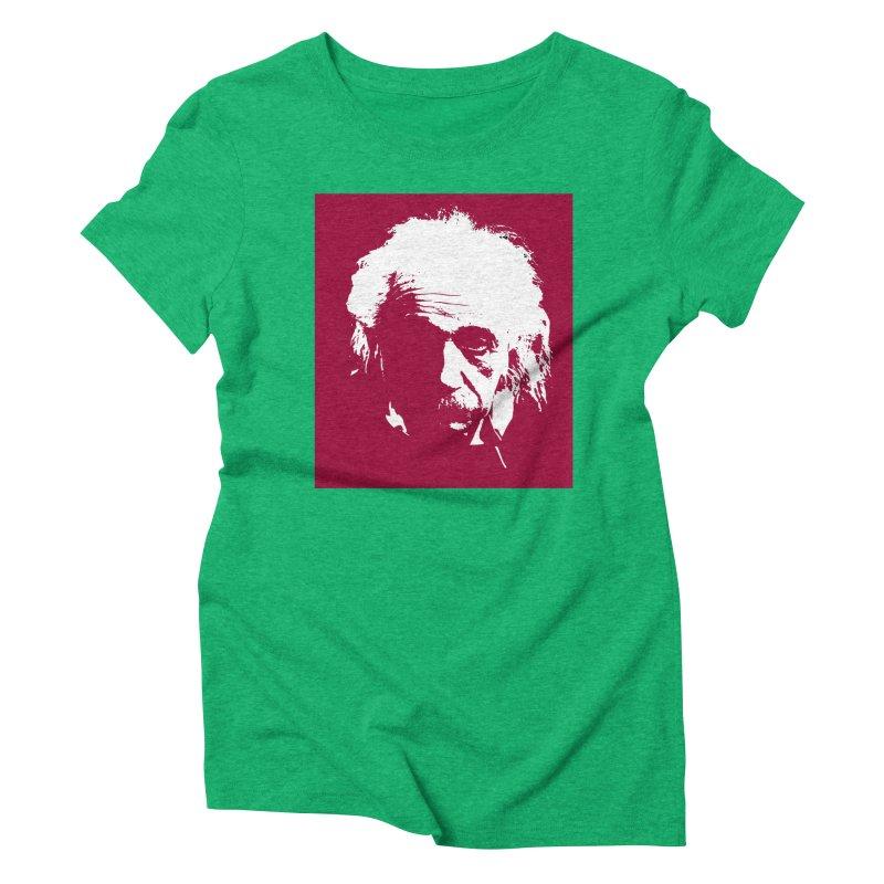 Albert Einstein Women's Triblend T-Shirt by Matthew Lacey-icarusismartdesigns