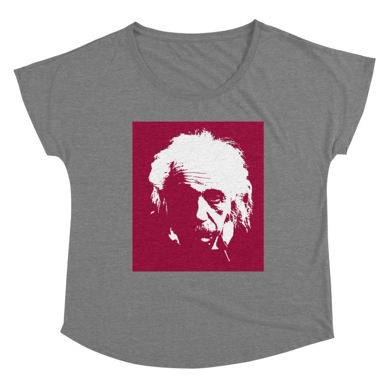 Albert Einstein Women's Scoop Neck by Matthew Lacey-icarusismartdesigns