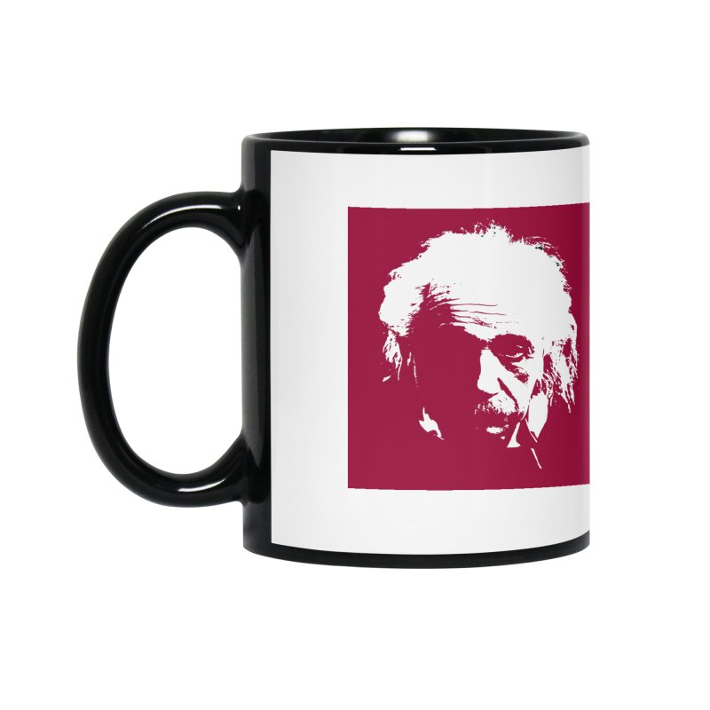 Albert Einstein Accessories Mug by Matthew Lacey-icarusismartdesigns