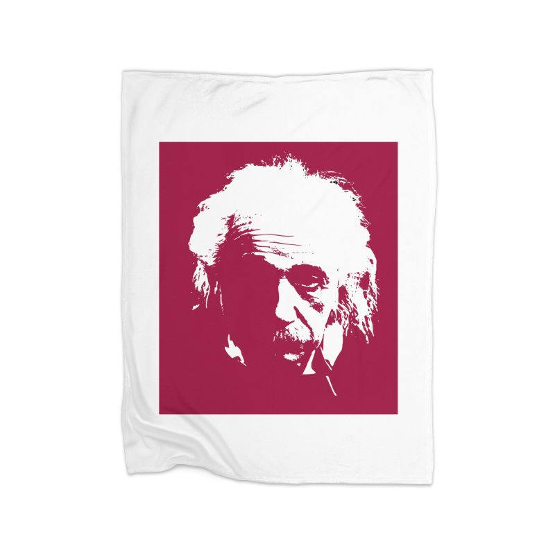Albert Einstein Home Blanket by Matthew Lacey-icarusismartdesigns